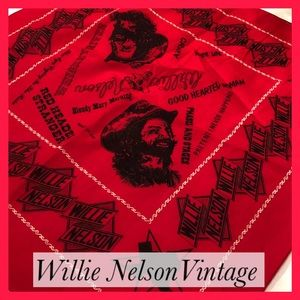 Willie Nelson Vintage Scarf.